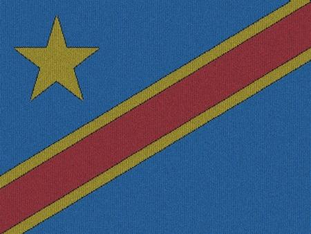 旗のコンゴ民主共和国のニット