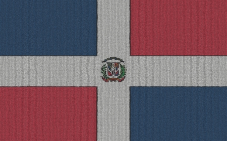 Knitted the Dominican Republic flag