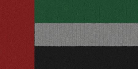 Knitted the United Arab Emirates flag