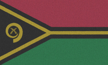 vanuatu: Knitted Vanuatu flag