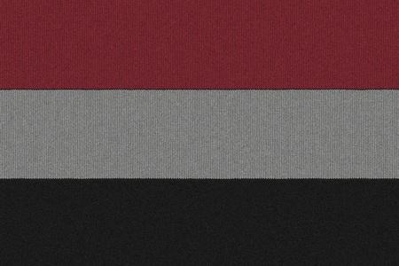 Knitted Yemen flag