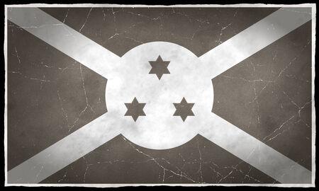 burundi: Old flag of Burundi Stock Photo