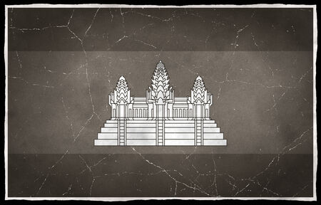 Old flag of Cambodia