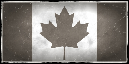old flag: Old flag of Canada Stock Photo