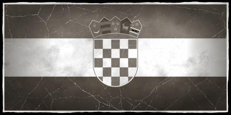 Old flag of Croatia Stock fotó