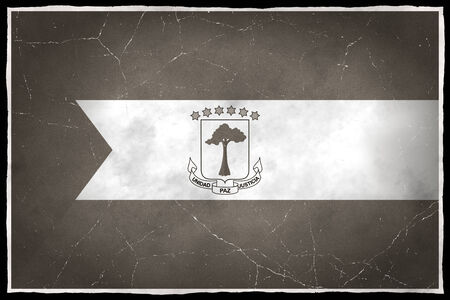Old flag of Equatorial Guinea Stock fotó