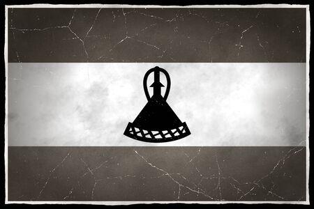 LESOTHO: Old flag of Lesotho
