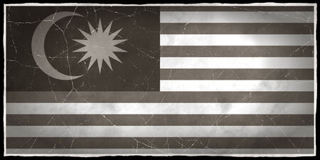 Old flag of Malaysia Stock fotó