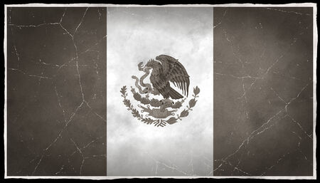 Old flag of Mexico