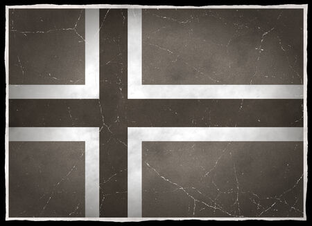 old flag: Old flag of Norway Stock Photo