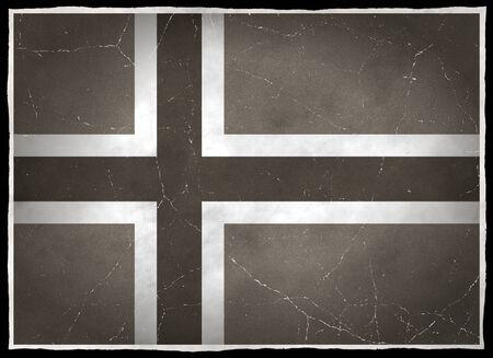 Old flag of Norway Zdjęcie Seryjne