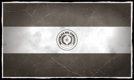 Old flag of Paraguay Stock fotó