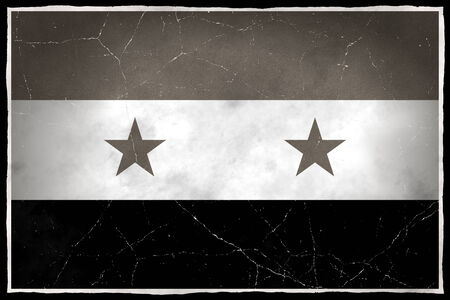 Old flag of Syria photo