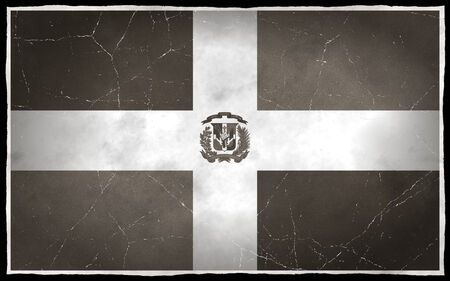 Old flag of the Dominican Republic Imagens