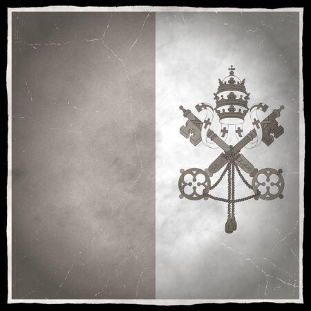 Old flag of the Vatican City Stock fotó