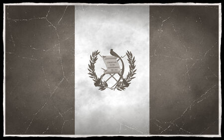 Old flag of Guatemala photo
