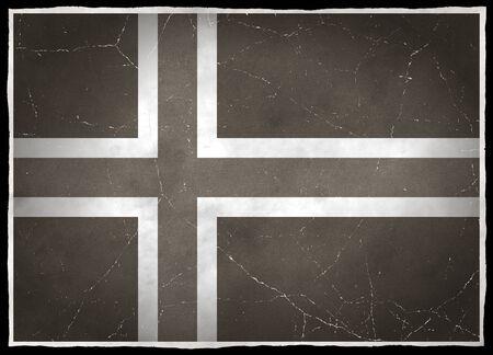 Old flag of Iceland