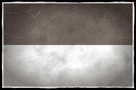 インドネシアの古い旗 写真素材