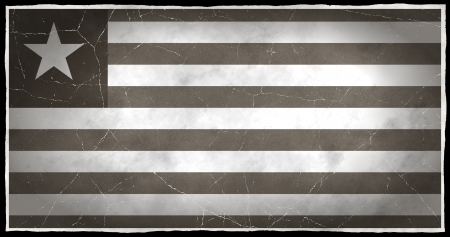 old flag: Old flag of Liberia Stock Photo