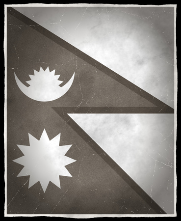old flag: Old flag of Nepal
