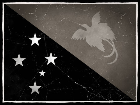 Old flag of Papua New Guinea Stock Photo
