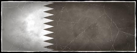 Old flag of Qatar Stock fotó