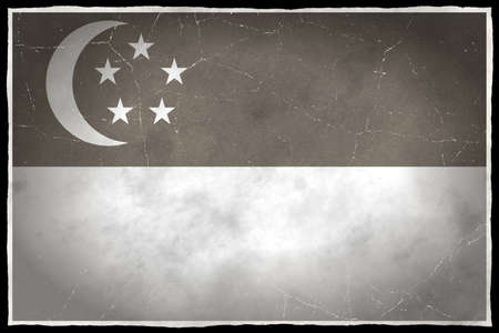 old flag: Old flag of Singapore