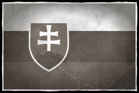 Old flag of Slovakia Stock fotó