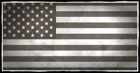 old flag: Old flag of the United States Stock Photo