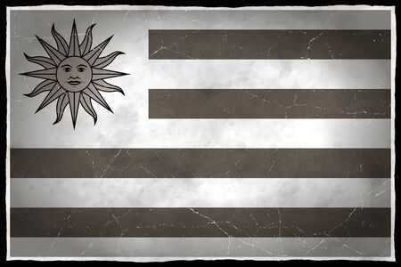 old flag: Old flag of Uruguay Stock Photo