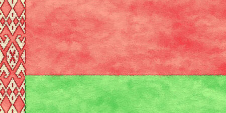 ageing: Belarus flag on ageing paper