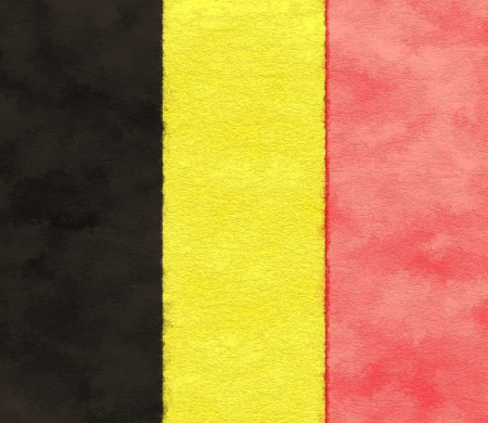 Belgium flag on ageing paper