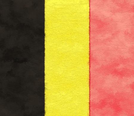 Drapeau de la Belgique sur papier vieillissement Banque d'images - 25134506