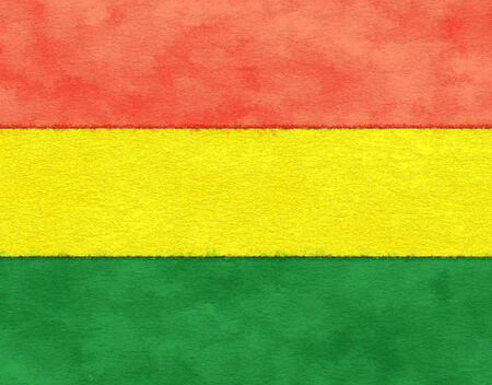 bandera de bolivia: Bolivia bandera en el papel de envejecimiento Foto de archivo