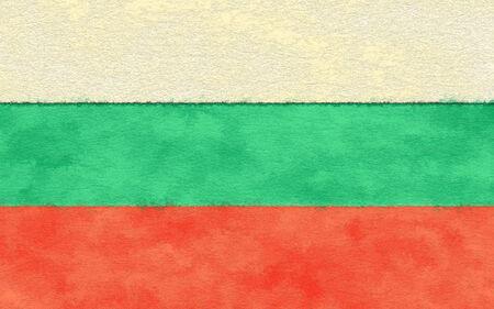 Bulgaria flag on ageing paper