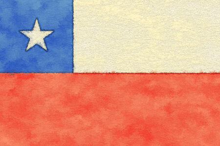 bandera chile: Bandera de Chile en el papel de envejecimiento
