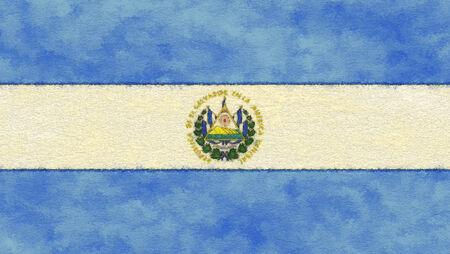 bandera de el salvador: Bandera de El Salvador en el papel de envejecimiento