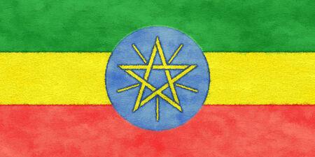 ethiopia flag: Ethiopia flag on ageing paper