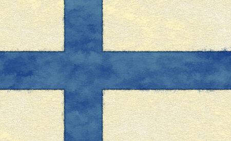 Finland flag on ageing paper Zdjęcie Seryjne