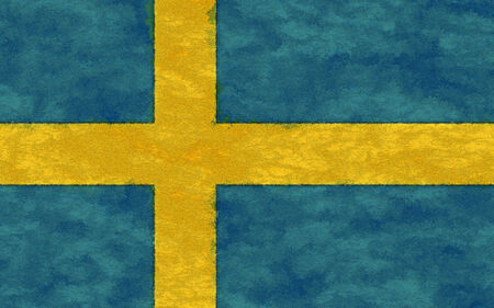 sweden flag: Sweden flag on ageing paper
