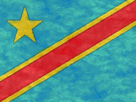 紙を高齢化で民主党のコンゴ共和国の旗