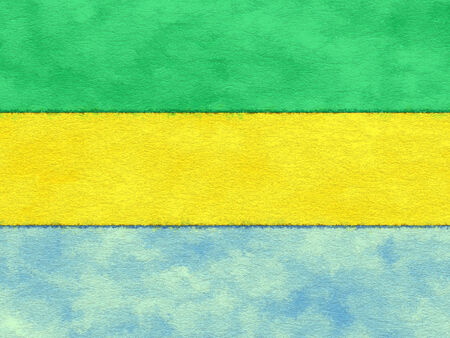 ageing: Gabon flag on ageing paper