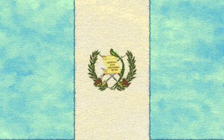 bandera de guatemala: Bandera de Guatemala en el papel de envejecimiento Foto de archivo