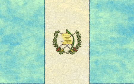 ageing: Guatemala flag on ageing paper