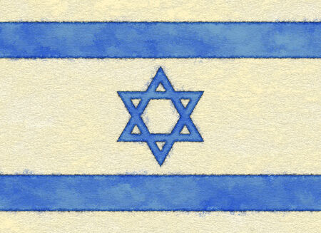 ageing: Israel flag on ageing paper