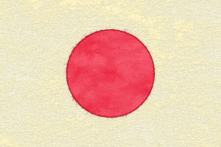 ageing: Japan flag on ageing paper