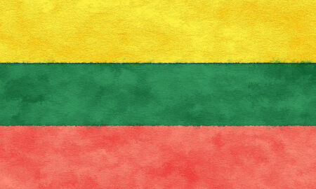Lithuania flag on ageing paper Reklamní fotografie