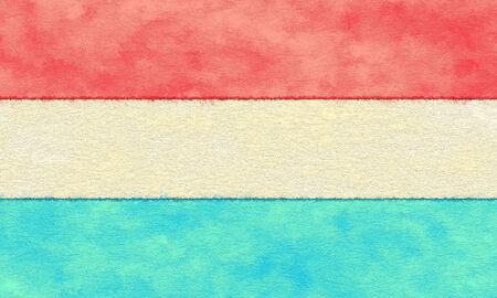 Luxemburg vlag op de vergrijzing papier