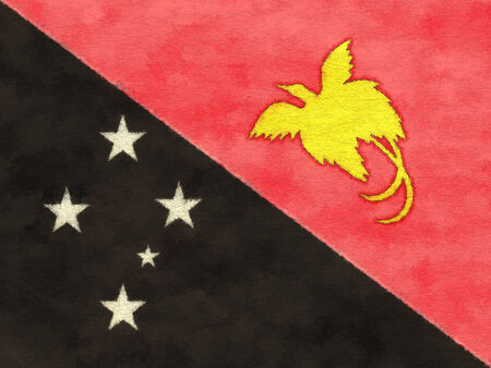Papua New Guinea flag on ageing paper
