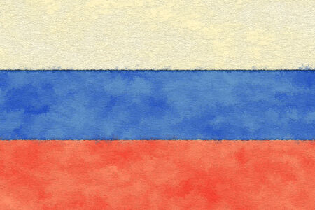 ageing: Russia flag on ageing paper